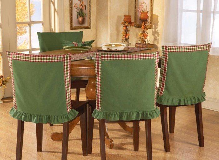 Украшение для стульев на кухне